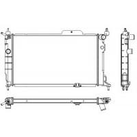 Радиатор Оpel Astra  F 1,6-2.0i 590X365 MKП АС-