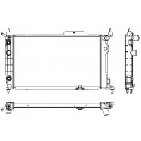 Радиатор OPEL ASTRA F 1,6-2.0i  593X359 АКП AC+