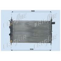 Радиатор  OPEL KADETT E 1,4i-1.6i 525Х320 АКП