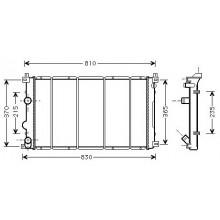 Радиатор RENAULT MASTER OPEL MOVANO 1.9-2.5CDI 01- 730X415 AC+