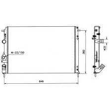 Радиатор RENAULT MEGANE 1.4-2.0 1.9D dTI  96- 585X415