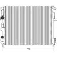 Радиатор RENAULT KANGOO DACIA LOGAN 1.5dCI 05- 480X402