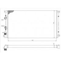 Радиатор RENAULT MASTER OPEL MOVANO 1.9-2.2 DTI 00- 730X420 AC-