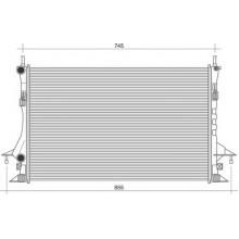 Радиатор RENAULT LAGUNA  1.6-2.0 16V  01- 690X420