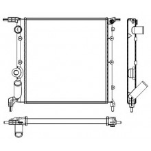 Радиатор RENAULT CLIO 1.2-1.4 91-98  350X378