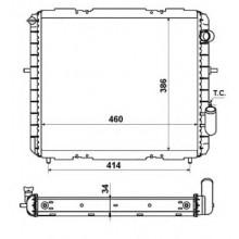 Радиатор RENAULT CLIO 1,9D 91-98 460X400