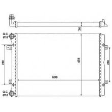 Радиатор VW SHARAN SEAT ALHAMBRA 1.9 2.0 TDI 04- 600X445