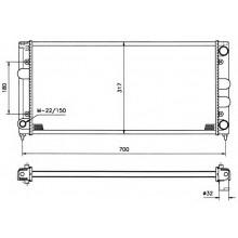 Радиатор VW PASSAT B3 88-93  1,9 Dizel 2,0 632Х322
