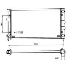 Радиатор для VW PASSAT B3 88-93 1,8