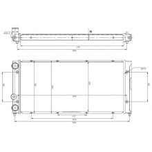 Радиатор VW PASSAT B3 88-96 1.8 2.8 VR6 630X305 AC-