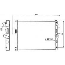 Радиатор Iveco 35-10  642Х488