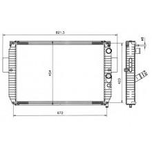 Радиатор IVECO DAILY II 625Х440 122 Лс