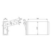 Радиатор печки AUDI 80, A4, VW PASSAT B5 86-95, 70224 (NISSENS) - 190Х155