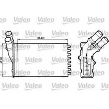 Радиатор печки PEUGEOT PARTNER, 306, CITROËN BERLINGO - 71156 (NISSENS), 234X156