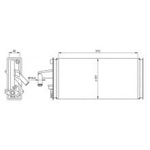 Радиатор печки IVECO DAILY II, 71807 (NISSENS) - 310Х157