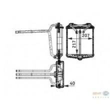 Радиатор печки MERCEDES-BENZ W124 85-92,  W126 85-, 72001 (NISSENS)