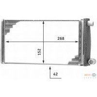 Радиатор печки MERCEDES-BENZ Т1 207-310 - 72004 (NISSENS), 268Х152