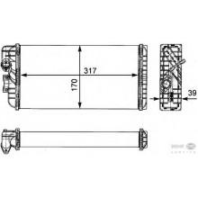 Радиатор печки MERCEDES-BENZ LK, LN2 609-814 VARIO - 72035 (NISSENS), 318Х170