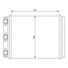 Радиатор печки MERCEDES-BENZ 123 79-85, W124 85-92 - 72000 (NISSENS), 234Х210Х40