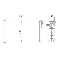 Радиатор печки OPEL OMEGA A 86-94 - 726461 (NISSENS), 245X160