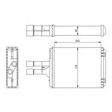 Радиатор печки OPEL VECTRA B 95-02, 72656 (NISSENS)
