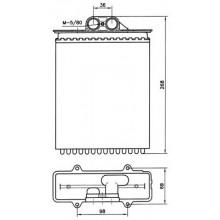 Радиатор печки OPEL VECTRA B 95-02 AC+, 72657 (NISSENS)