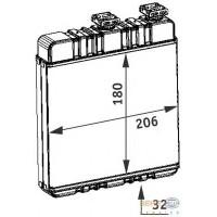 Радиатор печки OPEL ASTRA G, ZAFIRA A - 72660 (NISSENS), 210Х180Х32
