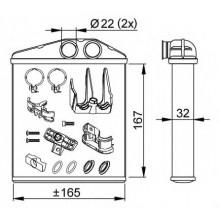 Радиатор печки для OPEL COMBO, CORSA C TIGRA
