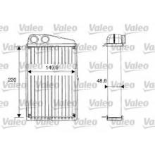Радиатор печки для RENAULT MEGANE 2 SCENIC