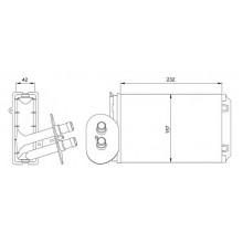 Радиатор печки VW TRANSPORTER Т4 92-03 - 73977 (NISSENS), 230Х155Х42 АС+