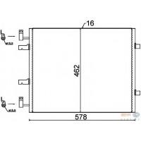 Радиатор кондиционера NISSAN, OPEL, RENAULT - 35845 (NRF)