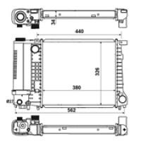 Радиатор BMW E34 88-95 E36 91-97 440Х328 МКП
