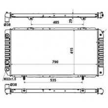 Радиатор BOXER, DUCATO, JUMPER 94-06 790X410