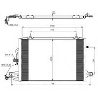 Радиатор кондиционера  Audi A100 C4 90-94 A6 94-97 572Х388