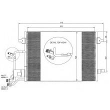 Радиатор кондиционера  AUDI A6 97-05 C5 618X421