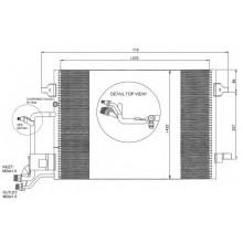 Радиатор кондиционера VW PASSAT B5  AUDI A4 96-00 565X420
