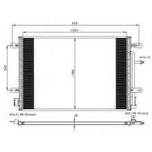 Радиатор кондиционера  AUDI A4 SEAT EXEO 04-08 575X388