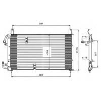 Радиатор кондиционера DAEWOO ESPERO, NEXIA 95-99