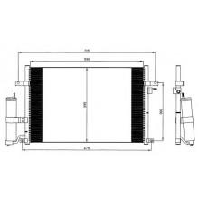 Радиатор кондиционера CHEVROLET LACETTI NUBIRA 03-, 94725 (NISSENS)