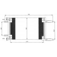 Радиатор кондиционера FIAT DOBLO 01- 488X312X18