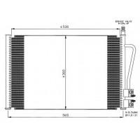 Радиатор кондиционера FORD FIESTA V FUSION MAZDA 2 580Х361