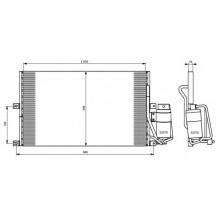 Радиатор кондиционера OPEL VECTRA B 1.6-2.0 95-01 590X375