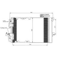 Радиатор кондиционера OPEL ASTRA G 1.2-1.8 OPEL ZAFIRA A 1.6-1.8  593Х357