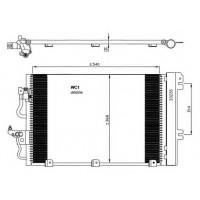 Радиатор кондиционера OPEL ASTRA H, ZAFIRA B 1.2-1.8  585Х67