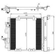 Радиатор кондиционера OPEL ASTRA H, ZAFIRA B CDTI  408Х367