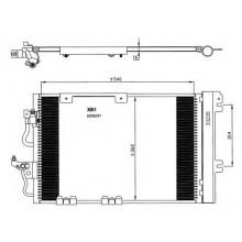 Радиатор кондиционера OPEL ASTRA H 1.6-1.8, ZAFIRA 1.8-2.0  587X380