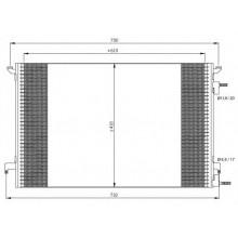 Радиатор кондиционера для OPEL VECTRA C, VAUXHALL SIGNUM DTI 03-