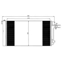 Радиатор кондиционера VW TRANSPORTER MULTIVAN T5