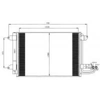 Радиатор кондиционера AUDI A3, VW GOLF 5, SKODA OCTAVIA A5, 580X400