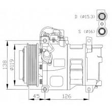 Компрессор кондиционера DCP17014 MERCEDES-BENZ C-CLASS (W202) CLK (C208)